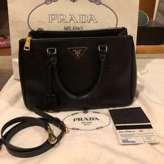 Authentic Prada saffiano LUX GHW BN1801 handbag