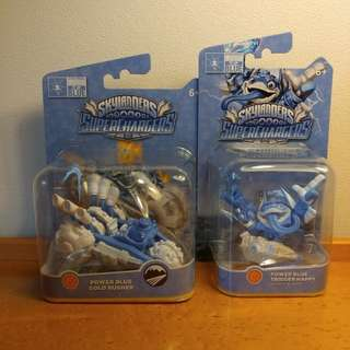 Skylanders Superchargers Power Blue Trigger Happy and Gold Rusher