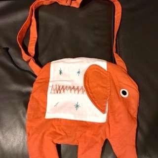 Children's fabric sling bag (Elephant design)