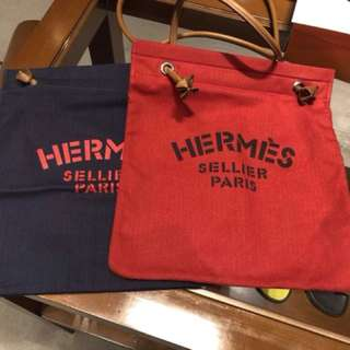 Hermes 帆布tote