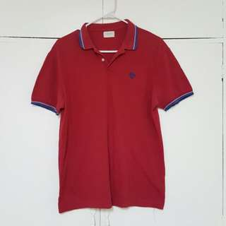 Bench red polo shirt