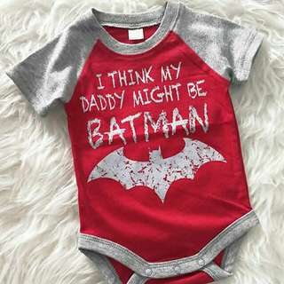 BN Batman Dad Romper