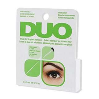 Duo brush on lashes adhesive/glue with vitamin A, E & C, clear
