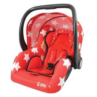 U-BABY - INFANT CARSEAT CS326B (RED/BLUE)