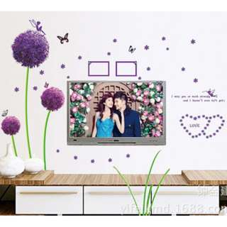 Purple Flower Wall Decal Sticker