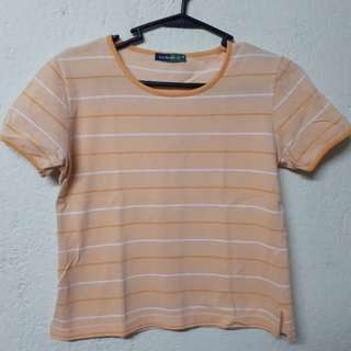 Orange stripped shirt