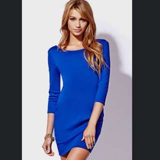 Forever21 Electric Blue Dress #IDoTrades