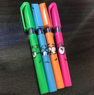 BN mini stabilo blue ballpoint pens x 4