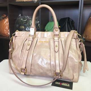 Authentic miu miu vitello lux 2 way bag