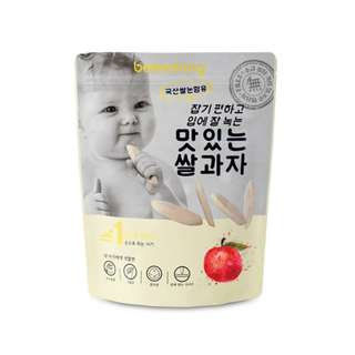 Bebedang Organic Puffed Rice Snack - Apple / Baby snack / Baby food