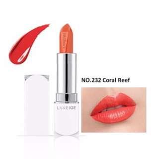 Laneige 232 Coral Reef Silk Intense Lipstick
