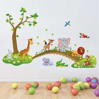 Colorful Animals Wall Decal Sticker