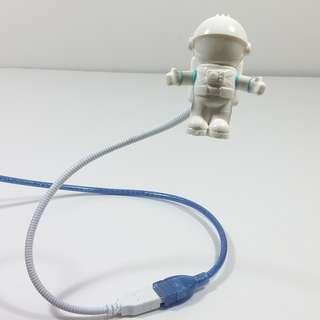 USB 臂太空人空中照射燈 S Astronaut USB Clip Keyboard Mini S Lamp