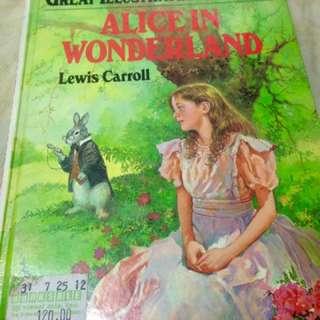 Alice in Wonderland hardbound cover