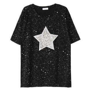 Brand New M Size Shining Star Tops