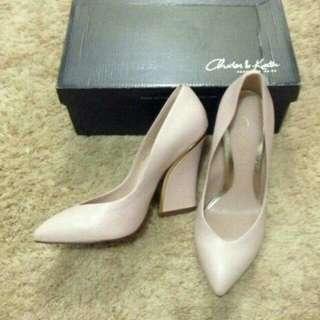 Charles and keith wedges heels