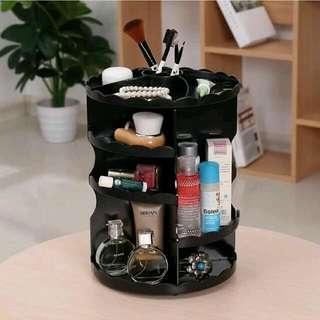 全新旋轉化妝櫃 收納櫃 (黑色)