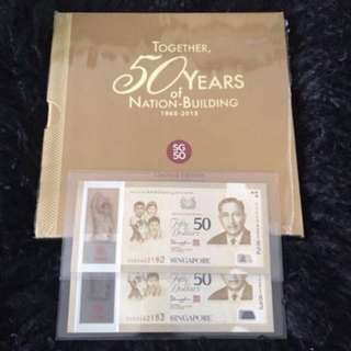 SG50 Commemorative ( S1 ) $50 With 2 Run