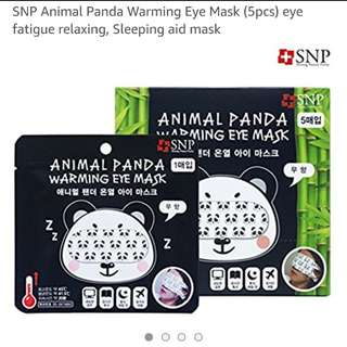 Animal Panda warming eye mask (5 pieces)