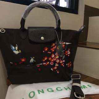 Longchamp Embroidered Brown