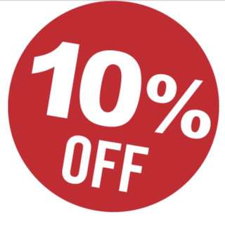 10% OFF ALL ITEMS IN LISTING