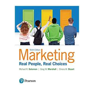 Marketing: Real People, Real Choices 9th Edition BY Michael R. Solomon (Author),‎ Greg W. Marshall (Author),‎ Elnora W. Stuart (Author)