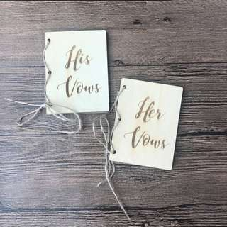 Wooden Vows Booklet