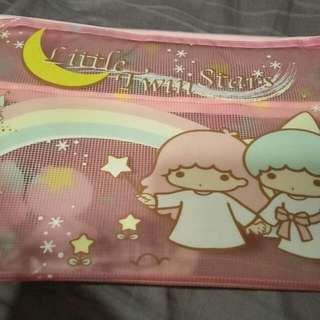 Authentic Little twin stars A4 file/pouch