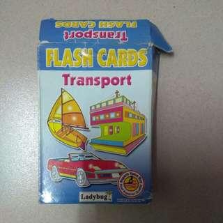 Transport flashcard