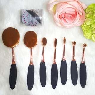 Rose Gold Paddle Brushes