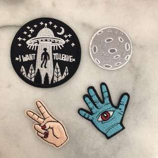 Iron On Patches Space Zombie