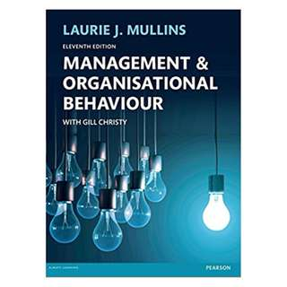 Management and Organisational Behaviour 11th Edition BY Laurie J. Mullins  (Author)