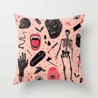 Horrorful Cushion Cover Throw Pillow