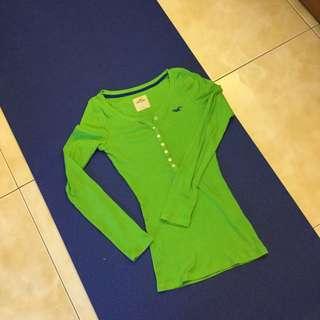 Hollister綠色腰身設計上衣