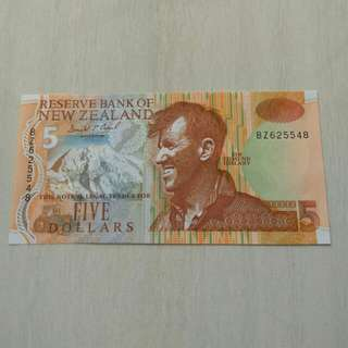 New Zealand ND Issue (1992-1997)P177a 5 Dollars Paper Unc Crisp Note