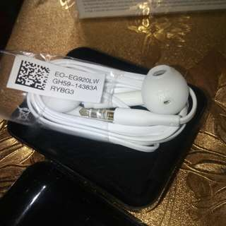 Original samsung galaxy S6 edge earphone