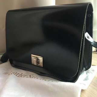 The Leather Satchel co. Cross body patent leather bag