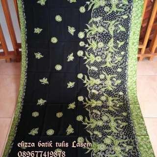 Kain Batik Tulis Lasem Sekarjagad Hijau