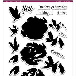 Altenew Painted Rose Clear Stamp Set