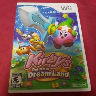 Wii game Kirby Return to Dreamland