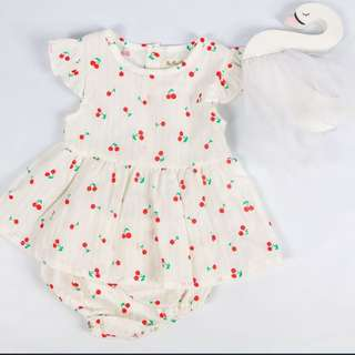 Baby Girl Sweet Cherry Print