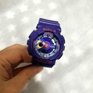 [90%新]  Baby-G 手錶 Watch 紫色 BA-112-2A
