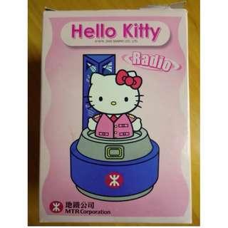 2002年 - FM 收音機 - hello kitty - 絕版 MTR 地鐵公司 紀念品 全新