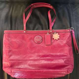 Coach pink bag 袋