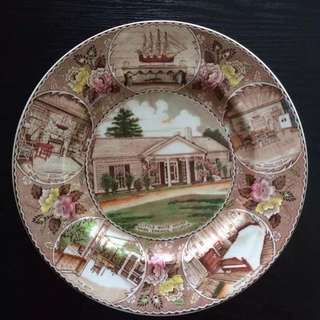 Little white house plate