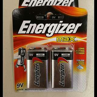 [SALE] Energizer Max 9V Battery (pack of 2's)