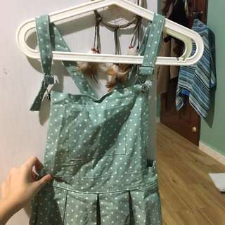 turquoise Overall Dress!! 👗