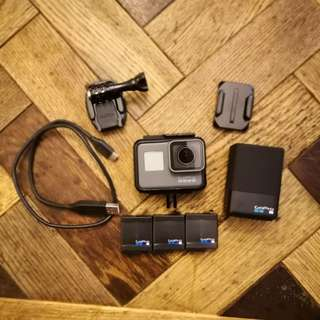 GoPro Hero 5 Black with Charger and 2 spare batts