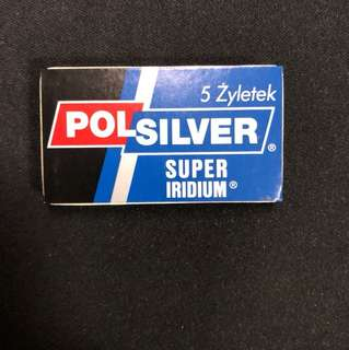 Polsilver Super Iridium DE razor blade