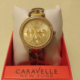 100% NEW Caravelle New York Women's Swarovski® Crystal Bezel Watch
